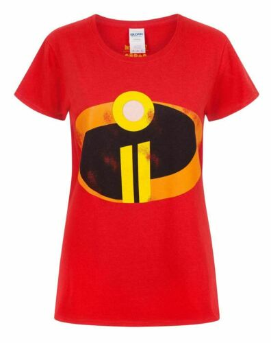 The Incredibles 2 Logo Women/'s Ladies Costume Red T-Shirt Top