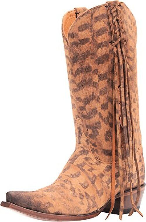 Lucchese Womens Tori Hand Tooled Feather Cowgirl Boot Snip Toe- Pick SZ/Color.