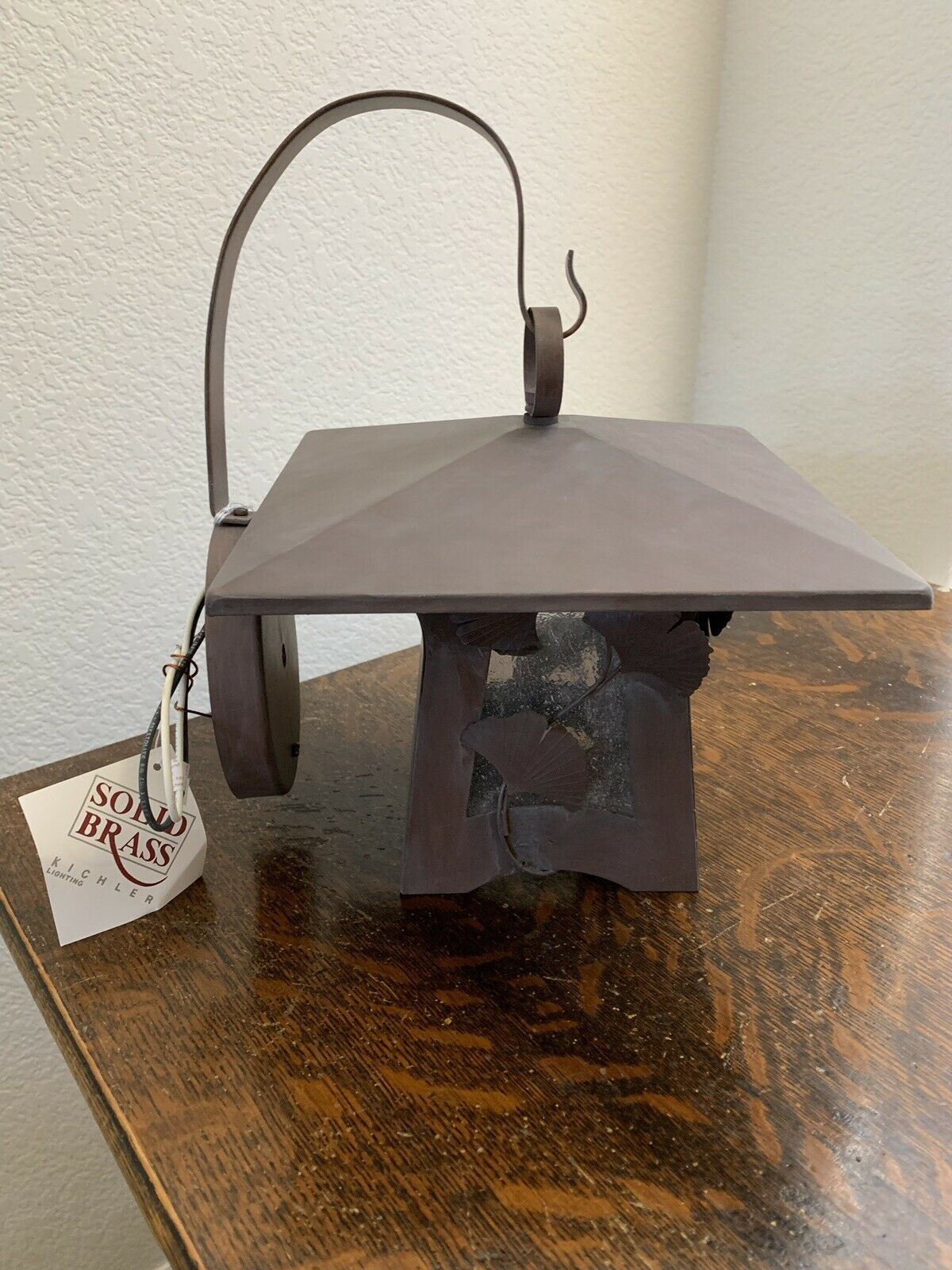 "Kichler 9471 Lighting Olde Brick Outdoor Wall mount Lantern Lamp 9"" x 9"" NIB"
