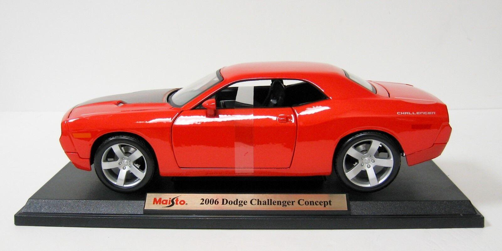1 18 Maisto orange 2006 Dodge Challenger Challenger Challenger Item 36138 f724ca