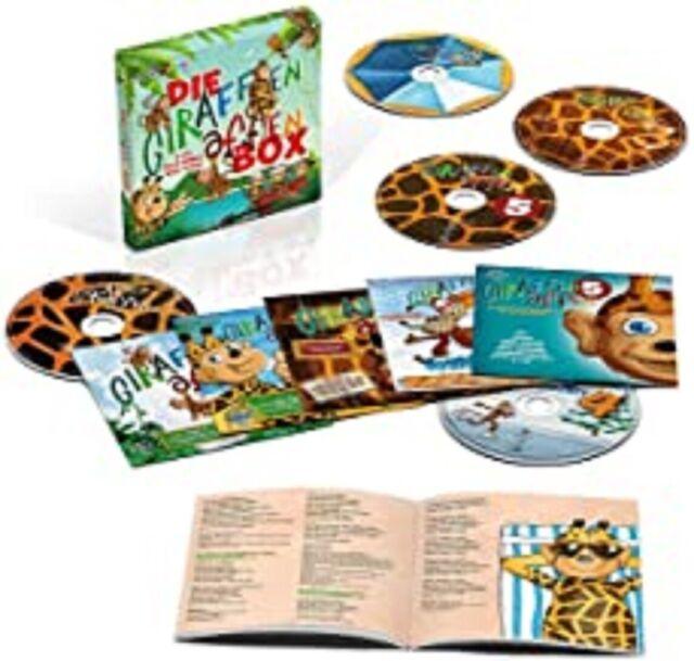 Die Giraffenaffen Box-5 CDS Mit Songs Und Texten [ NEU & OVP ]