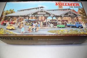 Vollmer-5608-Gebaudebausatz-Markthallen-Spur-H0-OVP