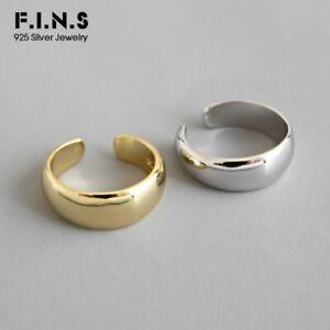 Glatte-Ohrklemme-echt-Silber-925-Farbe-Gold-Damen-Ohrringe-Ear-Cuff-Ohne-Loch