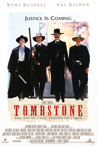TOMBSTONE MOVIE POSTER USA Version, Size 24 x 36