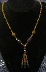 Wonderful string strand of brown marbled style beads with various beads decs - Newent, United Kingdom - Wonderful string strand of brown marbled style beads with various beads decs - Newent, United Kingdom