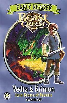 1 of 1 - Beast Quest Early Reader: Vedra & Krimon Twin Beasts of Avantia by Adam Blade