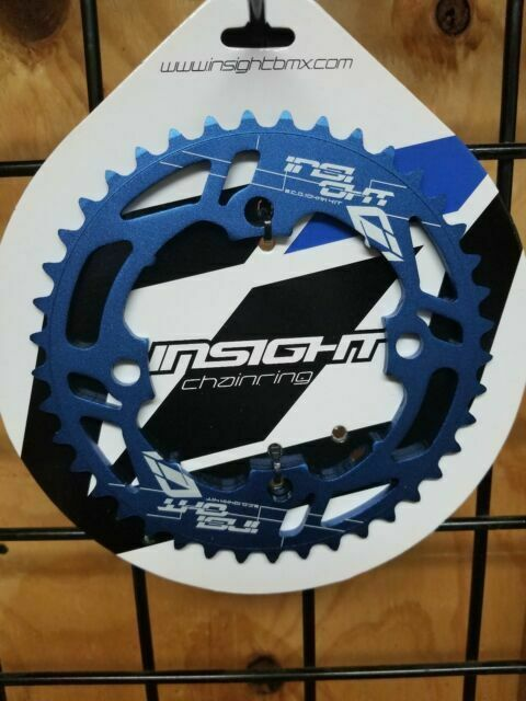INSIGHT 4 BOLT BMX CHAINRING 104mm BCD 36T SILVER