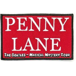 OFFICIAL-LICENSED-THE-BEATLES-PENNY-LANE-RED-SEW-ON-PATCH-LENNON