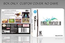 NINTENDO DS : FINAL FANTASY 3. UNOFFICIAL COVER. ORIGINAL BOX. NO GAME. ENGLISH