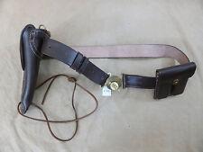 US ARMY WW2 SET Leather Belt Holster Colt M1911 Lederholster Magazintasche
