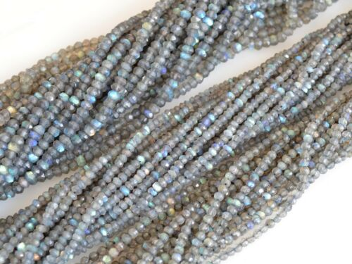 Natural Gemstone Rainbow Labradorite Beads Faceted Round and Rondel #2066