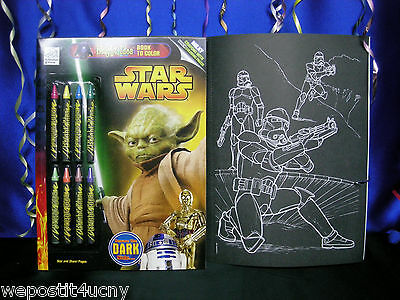 Star Wars Coloring Book Special Black Coloring Pages Beware Of The Dark  Side... EBay