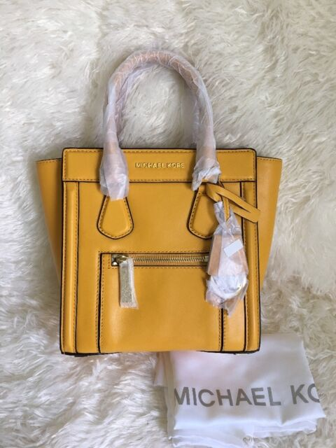 NEW MICHAEL Michael Kors Colette Zip Top Medium Bag in SUN 30S5GCZM2L ($328)
