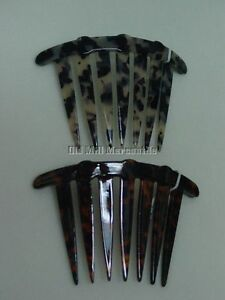faux tortoise shell large hair comb Victorian Edwardian style 2 colors to choose