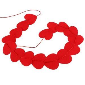 16 X Valentinstag Herz Girlande Rot Papier Herz Wandbehang Party