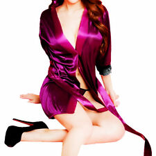 New Womens Satin Pyjamas Set Sleepwear Nightgown Sleepdress Long Robes Nightwear