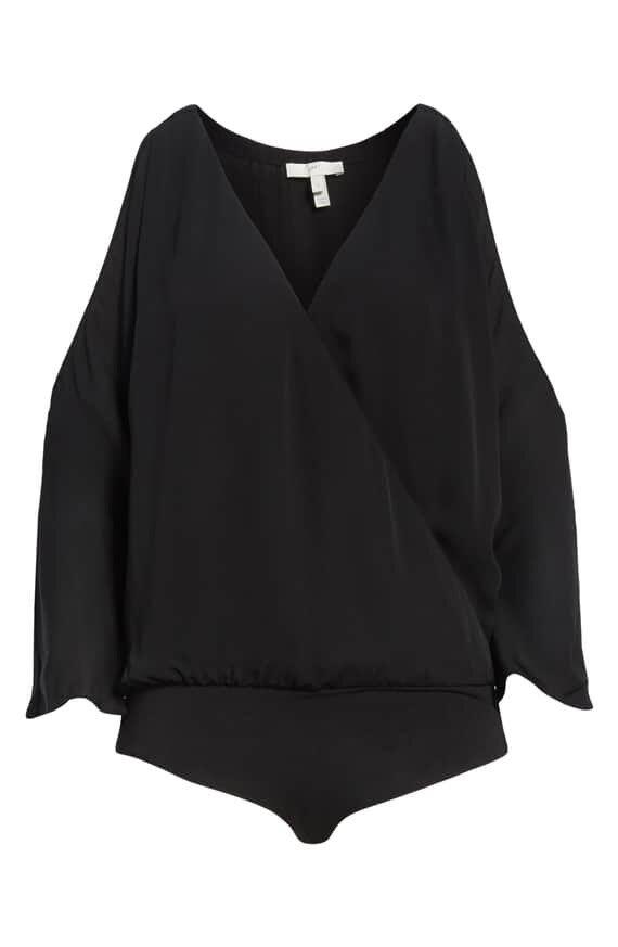 New Joie Ahsaki Cold Shoulder Silk Bodysuit Größe XXS MSRP
