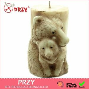 2D-Bear-Mother-and-Son-Cylindrical-Candle-Molds-Hand-Made-Soap-Candle-Molds