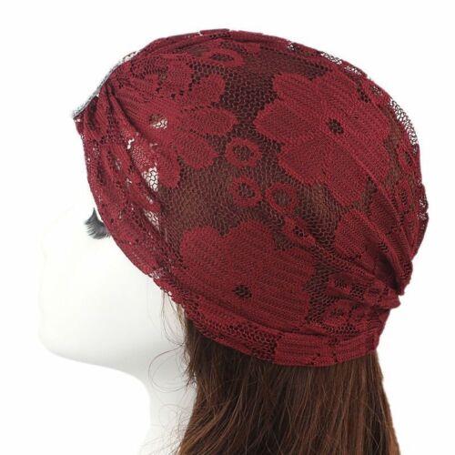 Femmes dentelle Mesh Turban Coiffe Hijab Musulmane Indian Wrap Head Chapeau Chimio Hijab Écharpe