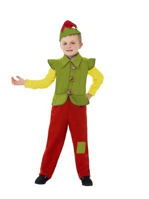 Boy/'s ELF BOY Santa/'s Christmas Helper Fancy Dress Costume 24246