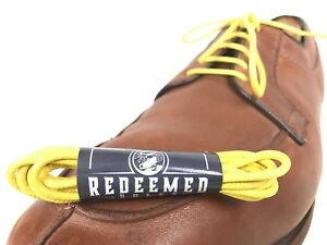 Blue Dress Shoe Laces 30in By Redeemed Soles Colored Shoelaces Waxed Cotton
