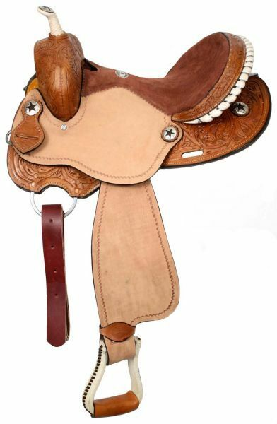 Double T Barrel Style Saddle with Round Skirts 15 , 16