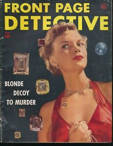 FRONT-PAGE-DETECTIVE-March-1946-BLONDE-DECOY-TO-MURDER-Diamonds-Sexy-Photo-Cover