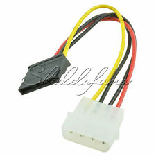 10Pcs Male Female 4 Pin Power Drive Adapter Cable to Molex IDE SATA 15-Pin S