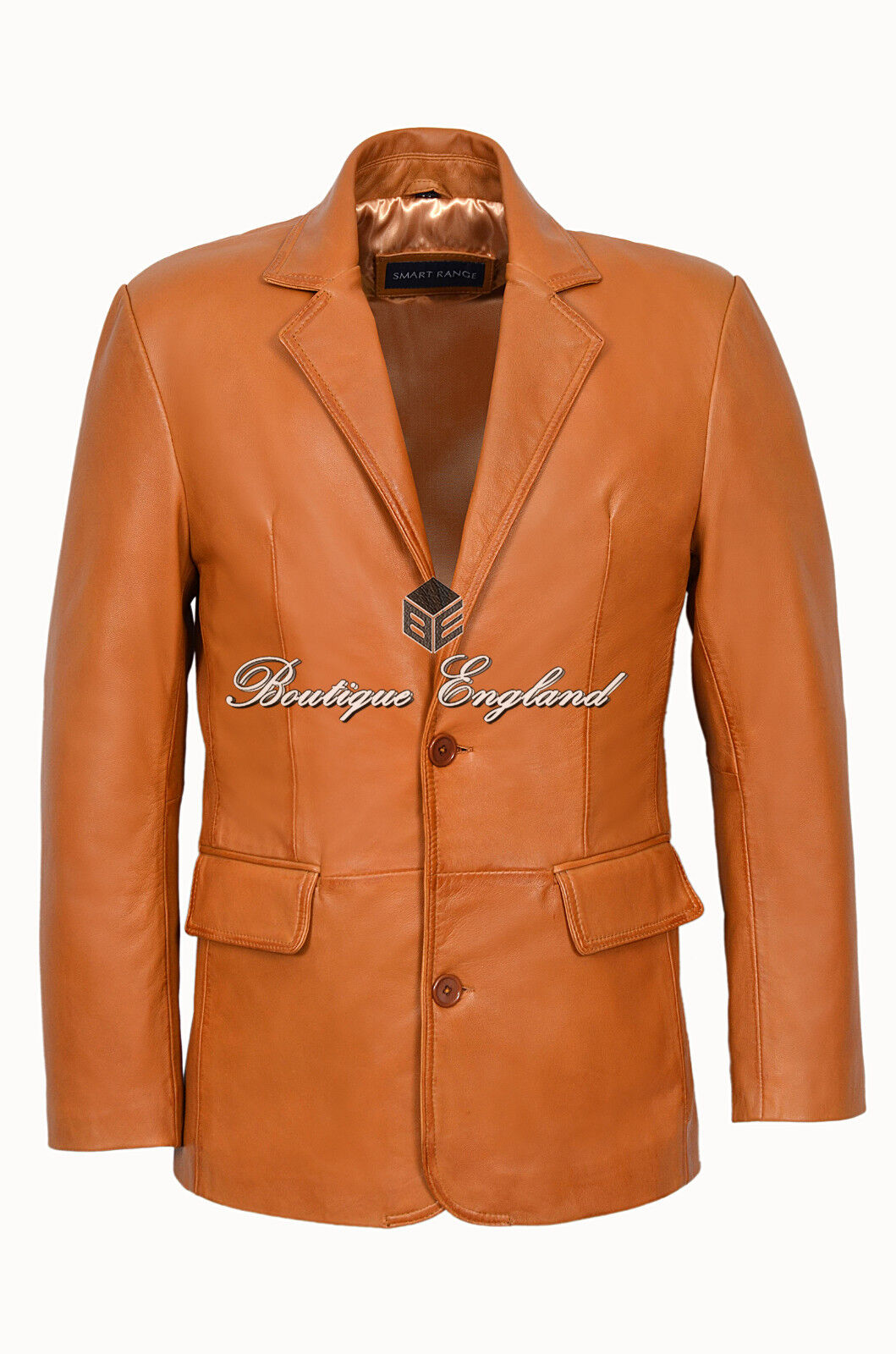 Herren Classic Leder Blazer TAN Formal Classic TailoROT SOFT GENUINE LEATHER 2BB