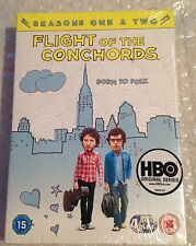 Flight Of The Conchords: Season 1 & 2 (4 Disc) (DVD) (C-15) HBO. New/Sealed.
