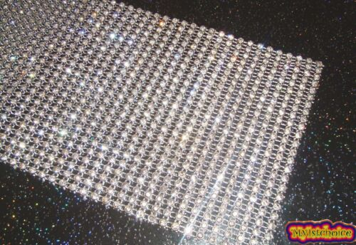 Diamante Effect 24Rows//1yrd crystal Trim Decoration Ribbon Mesh Rhinestone