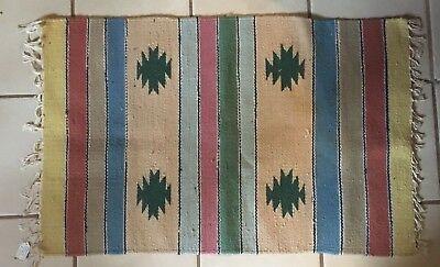 Vintage Dhurrie woven Saddle Blanket