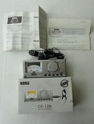 2000 Mint Box New Korg Ot-12m Reference Orchestral Tuner Chromatic 2 Aa Battery Een Verrijkt En Voedingsstof Voor De Lever En De Nieren