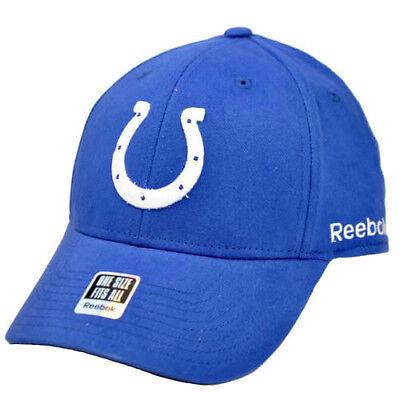 Original Nfl Indianapolis Colts Königsblau Weißes Reebok Flex Stretch Fit Einheitsgröße Gesundheit FöRdern Und Krankheiten Heilen Baseball & Softball