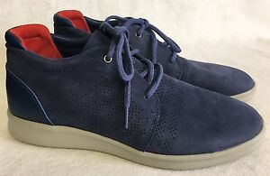 3f05b79257a Details about UGG Larken Stripe Perf 1014660 Marino Blue Athletic Leather  Textile Dress Shoes