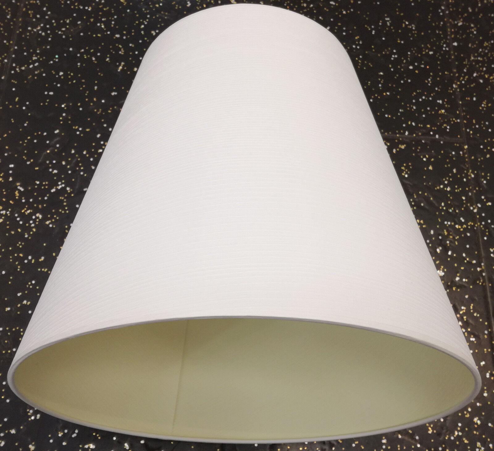 Paralume Paralume Paralume Cotone con delicati Strisce Tessuto Tessile Bianco ø34 cm e27 conica 0eb18d