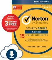 15 Months Norton Security Deluxe 5 Device 1 Year