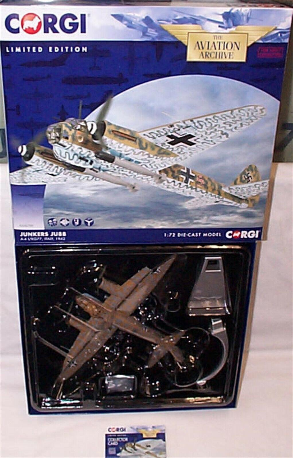 AA36709 - 1 72 Junkers JU88 A-4 I KG77  1942 New boxed Ltd edition