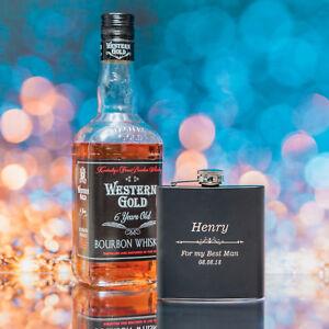 Personalised Engraved 6oz Black Hip Flask Groomsen Gift Boyfriend Wedding DzjoQaIt-09165948-638050073