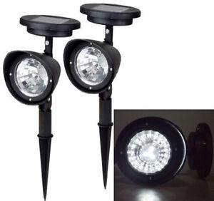 Details Sur 2x 3 Leds Solaire Jardin Lampe Eclairage Spot Exterieur Gazon Paysage