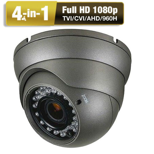 HD-TVI 2.6MP 1080P OSD 2.8-12mm Varifocal Lens Dome IP66 36IR Security Camera