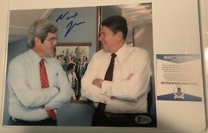 NEWT-GINGRICH-SIGNED-8X10-PHOTO-W-BECKETT-COA-RONALD-REAGAN-HOUSE-SPEAKER