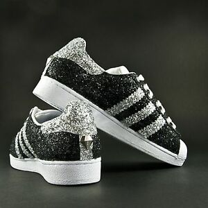 adidas superstar nere brillantinate