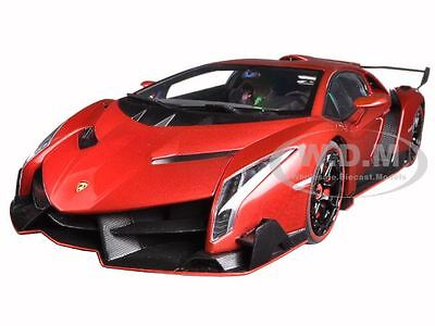 LAMBORGHINI VENENO RED 1/18 DIECAST MODEL CAR BY AUTOART 74508