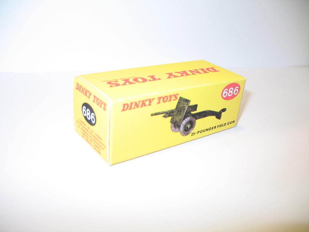 N48, caja para canon 25 libra repro DINKY TOYS ref 686 militar