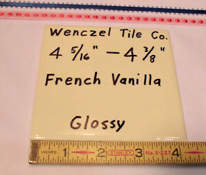 """4-5//16/""""- 4-3//8/"""" 1 pc *Lite Yellow Blond* Glossy Ceramic Tile by Wenczel Co"""