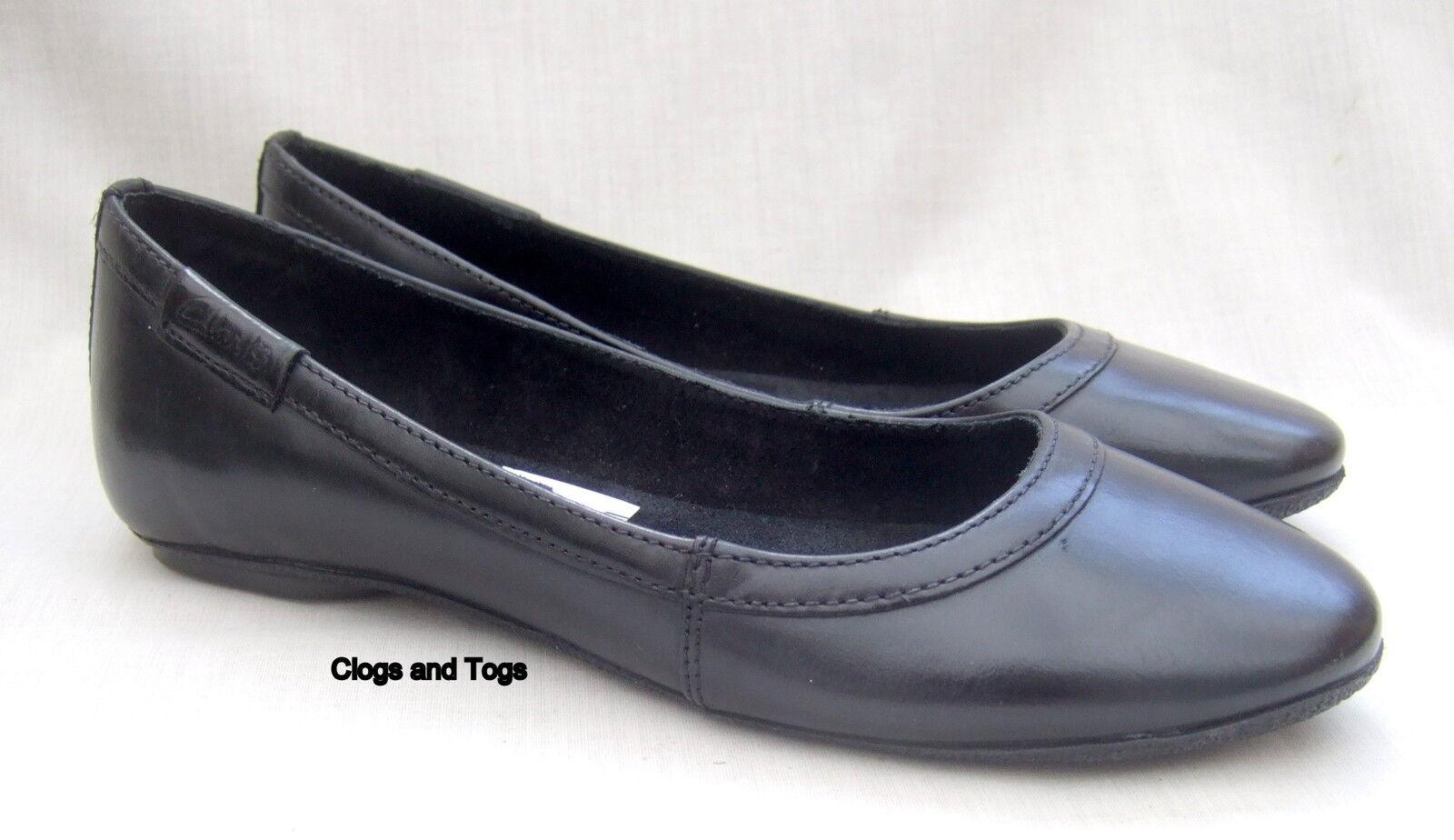 Zapatos de cuero nuevo Clarks negro de mujer de de de flor de Iris Bombas de Tamaño 5 38  comprar mejor