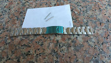 SALE 20mm straight End OYSTER Solid Stainless Steel Watch bracelet,Screws Links