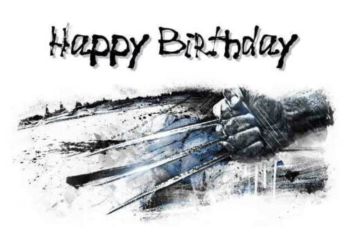 age Personalised Wolverine Hand Made Printed Card any name relation