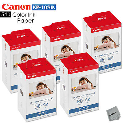 3 Pack Canon KP-108IN Color Ink Paper 324 sheets for Canon Selphy CP900